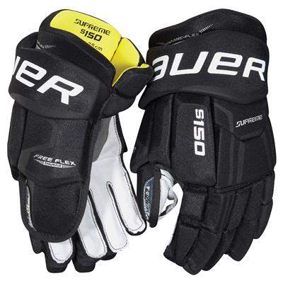 Black (Bauer Supreme S150 Hockey Gloves - 2017)