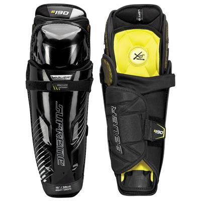 stock (Bauer Supreme S190 Hockey Shin Guards - 2017 - Senior)