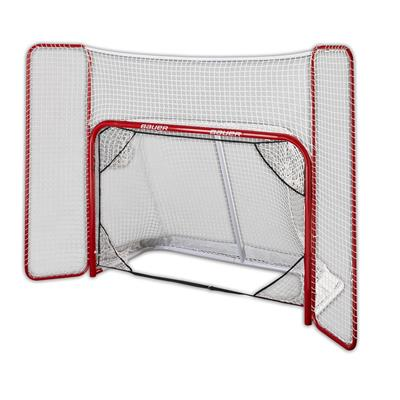 (Bauer Steel Hockey Goal with Backstop & Targets - 6' x 4')