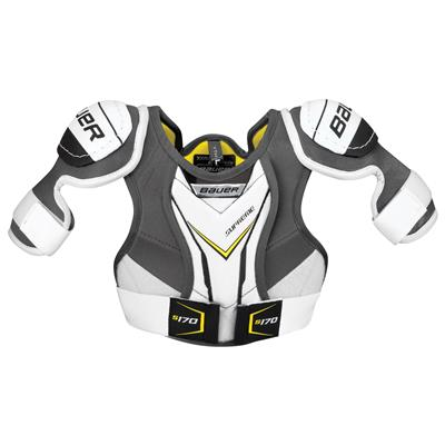 stock (Bauer Supreme S170 Hockey Shoulder Pads - 2017 - Youth)