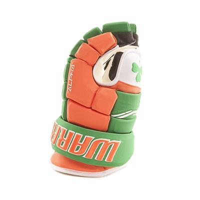 (Warrior Alpha Pro Irish Hockey Gloves - Senior)
