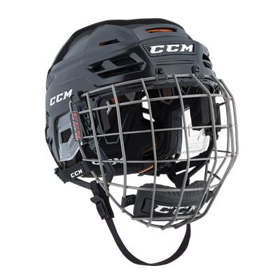 Black (CCM Tacks 710 Helmet Combo)