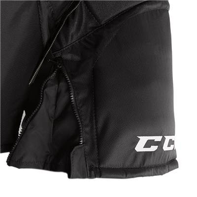 Super Tacks Player Pant (2017) - Zipper View (CCM Super Tacks Hockey Pants - Junior)