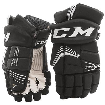 Black (CCM Super Tacks Hockey Gloves)