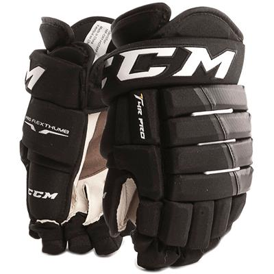 Black/Black (CCM 4R Pro Hockey Gloves - Senior)