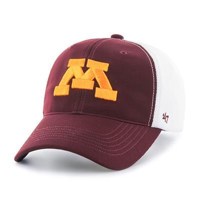 DRAFT DAY CLOSER MINN HAT - Front View (47 Brand Draft Day Closer Hockey Hat - University of Minnesota)