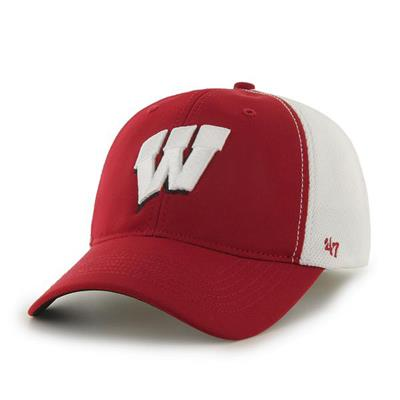 DRAFT DAY CLOSER WISC HAT - Front View (47 Brand Draft Day Closer Hockey Hat - University of Wisconsin)