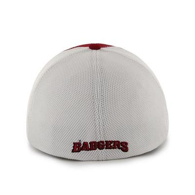 DRAFT DAY CLOSER WISC HAT - Back View (47 Brand Draft Day Closer Hockey Hat - University of Wisconsin)