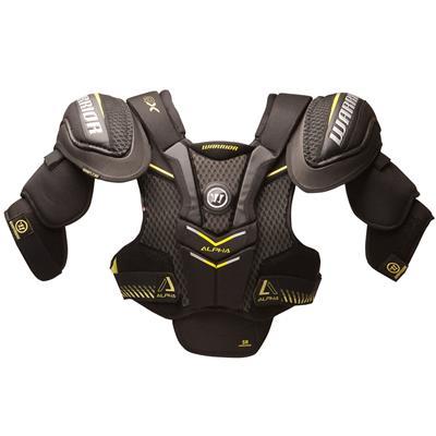 Alpha QX Shoulder Pad - Front View (Warrior Alpha QX Hockey Shoulder Pads - Senior)