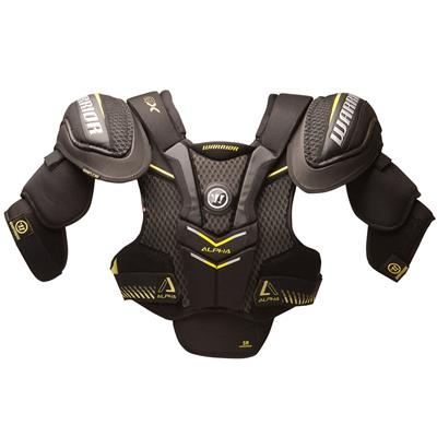 Alpha QX Shoulder Pad - Front View (Warrior Alpha QX Hockey Shoulder Pads - Junior)