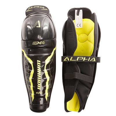 Alpha QX4  Shin Guard - Default View (Warrior Alpha QX4 Hockey Shin Guard - Senior)