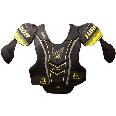 Alpha QX4 Shoulder Pad - Front View (Warrior Alpha QX4 Hockey Shoulder Pads - Junior)