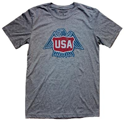 1976 USA HOCKEY GREY TEE (1976 USA Hockey Tee)