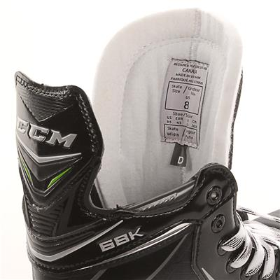 Ribcor 68K Ice Skate 2017 - Tongue View (CCM Ribcor 68K Ice Hockey Skates)