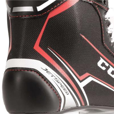 Jetspeed FT340 Ice Skate 2017 - Heel Close up (CCM JetSpeed FT340 Ice Hockey Skates)