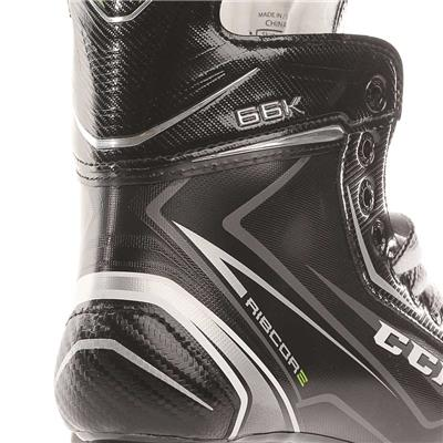 Ribcor 66K Ice Skate 2017 - Heel View (CCM Ribcor 66K Ice Hockey Skates)