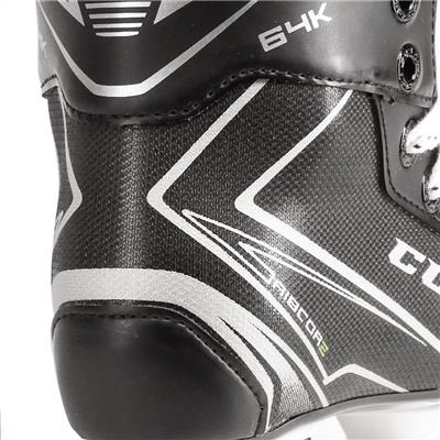 Ribcor 64K Ice Skate 2017 - Heel View (CCM Ribcor 64K Ice Hockey Skates - Youth)