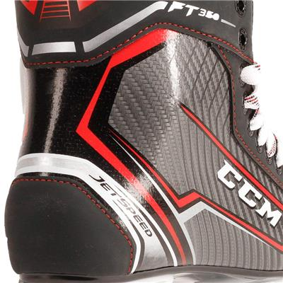 Jetspeed FT350 Ice Skate 2017 - Heel close up (CCM JetSpeed FT350 Ice Hockey Skates)