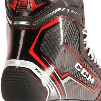 Jetspeed FT360 Ice Skate 2017 - Heel Close up (CCM JetSpeed FT360 Ice Hockey Skates - Senior)