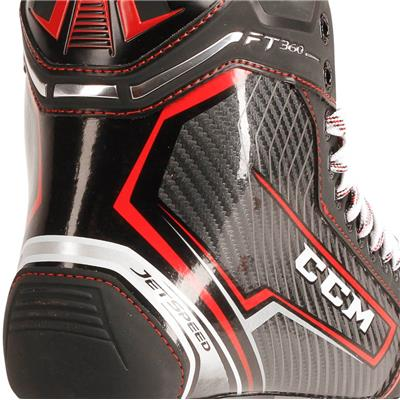 Jetspeed FT360 Ice Skate 2017 - Heel Close up (CCM JetSpeed FT360 Ice Hockey Skates - Youth)