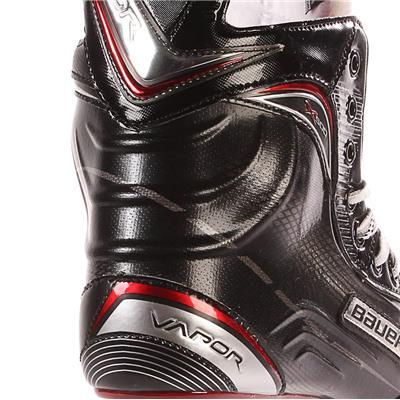 S17 Vapor X500 Ice Skate - Heel Close up (Bauer Vapor X500 Ice Hockey Skates - 2017 - Junior)