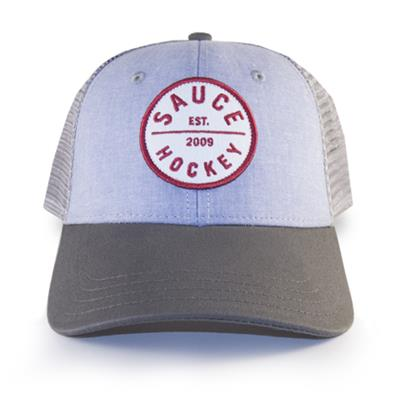 Bubble Wrap - Front View (Sauce Hockey Bubble Wrap Adjustable Hockey Hat - Blue)