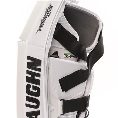 PHC XFP Pro Goalie Leg Pad - Side Close Up (Vaughn XFP Pro Goalie Leg Pads - Senior)