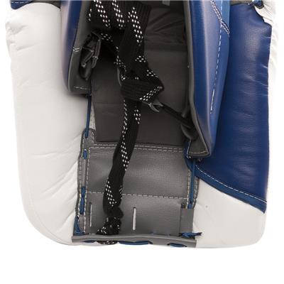 Back View - Toe Channel (Warrior Ritual GT Classic Goalie Leg Pads - Senior)