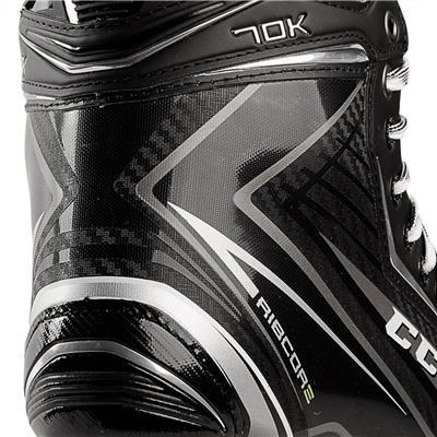 Right Skate Outside Angle Closeup (CCM Ribcor 70K Ice Skates)