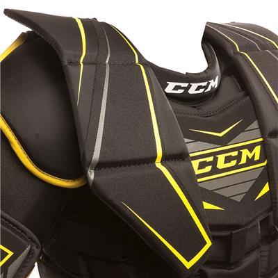 Collar Bone Closeup (CCM Premier R1.5 Goalie Chest And Arm Protector)