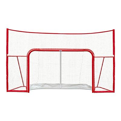 "Front View (Winnwell 72"" Proform Goal w/ Backstop)"