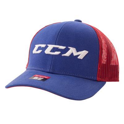 (CCM Meshback Trucker Cap Royal/Red)