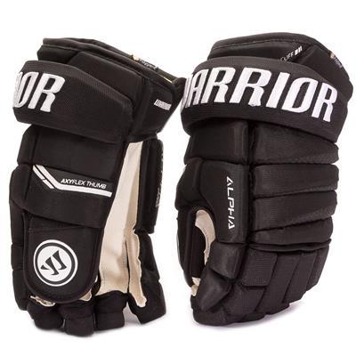 Black (Warrior Alpha Pro Hockey Gloves)