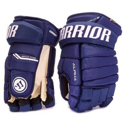 Light Royal (Warrior Alpha Pro Hockey Gloves - Junior)
