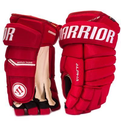 Red (Warrior Alpha Pro Hockey Gloves)