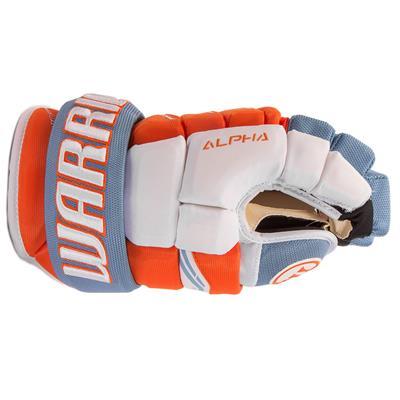 Side View (Warrior Alpha Pro Hockey Gloves - Junior)