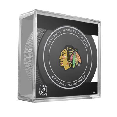 (Sher-Wood NHL Official Game Puck - Chicago Blackhawks)