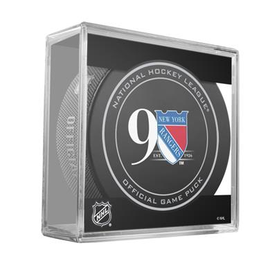 (Sher-Wood NHL Official Game Puck - New York Rangers)
