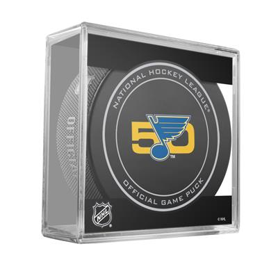 (Sher-Wood NHL Official Game Puck - St. Louis Blues)