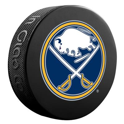 (InGlasco NHL Basic Logo Puck - Buffalo Sabres)