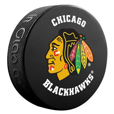 (InGlasco NHL Basic Logo Puck - Chicago Blackhawks)