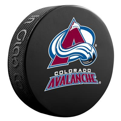 (Sher-Wood NHL Basic Logo Puck - Colorado Avalanche)