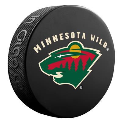 (InGlasco NHL Basic Logo Puck - Minnesota Wild)