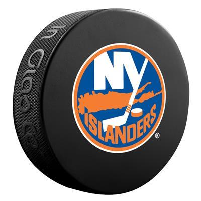(Sher-Wood NHL Basic Logo Puck - New York Islanders)