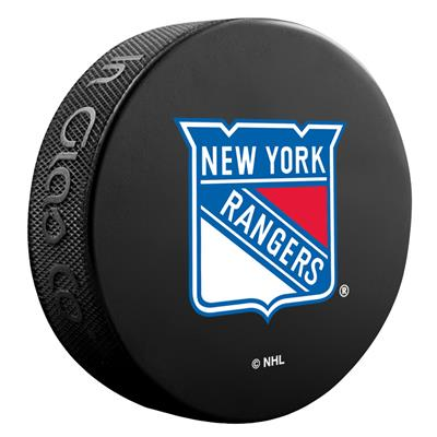 (Sher-Wood NHL Basic Logo Puck - New York Rangers)