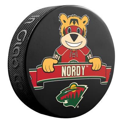 (Sher-Wood NHL Mascot Souvenir Puck - Minnesota Wild)