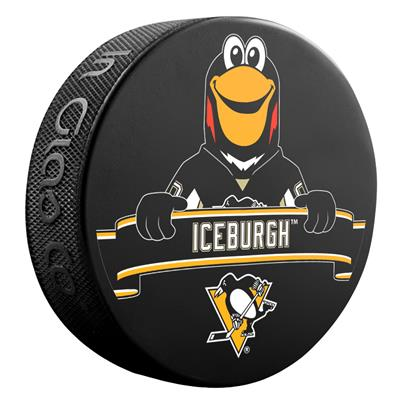 (Sher-Wood NHL Mascot Souvenir Puck - Pittsburgh Penguins)