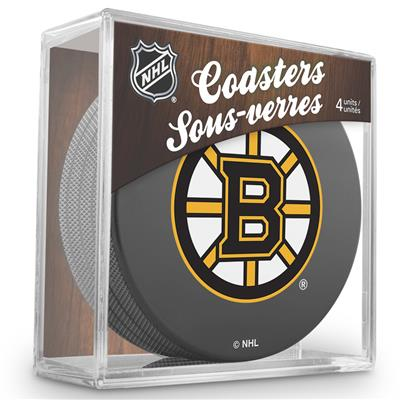(Sher-Wood Puck Coasters Pack - Boston Bruins)