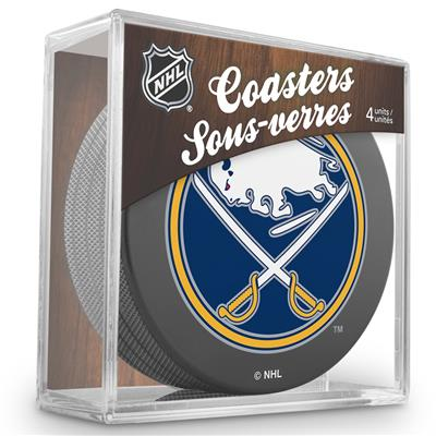 (InGlasco Puck Coasters Pack - Buffalo Sabres)