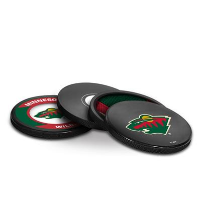 (Sher-Wood Puck Coasters Pack - Minnesota Wild)